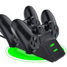 Dual Wireless Controllers Charger Charging Dock Station med Micro USB-adapter för PS4 Gamepad