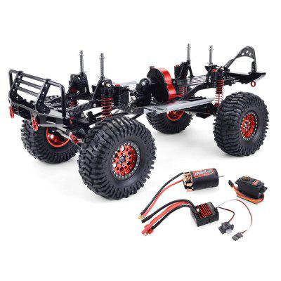 ZD Racing SCX10 1/10 4WD CNC All Metal Carbon Fiber RC Car Frame + 540 Motor + 60A waterdichte ESC + M1500 Servo