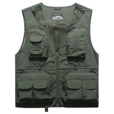 Heren Outdoor Multi-pocket Vest Vest