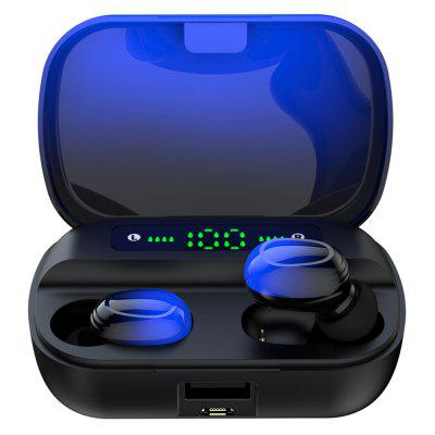 Q82 True Wireless Earphone Gradient Color In-ear Touch Control Bluetooth 5.0 Earbuds with Power Display