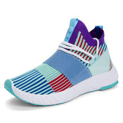 AILADUN Fly Woven Sneakers Low-top Color-matching Running Shoes