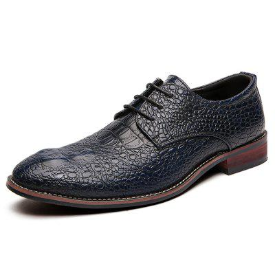 Men's Dress Shoes Large Size Gradient Color Crocodile Business