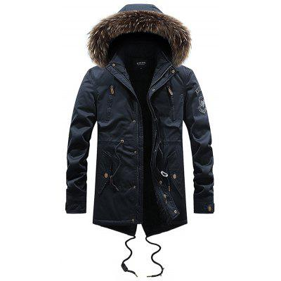 Moda Hooded Cald Parka Coat pentru bărbați