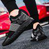 AILADUN Fly Woven Sneakers Low-top Color-matching Running Shoes - BLACK