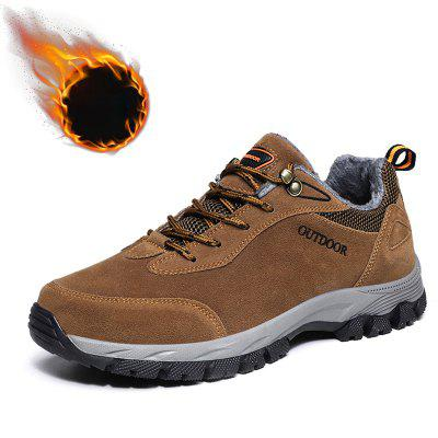 Men's Outdoor Hiking Sneaker Large Size Plus Velvet Warm Non-slip Shoes