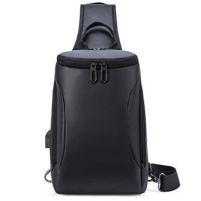 Men's Solid Color Casual Chest Bag Multi-purpose Nylon Fabric