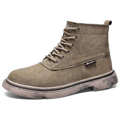 AILADUN Men's High-top Boots Vintage Thick Bottom Casual Shoes