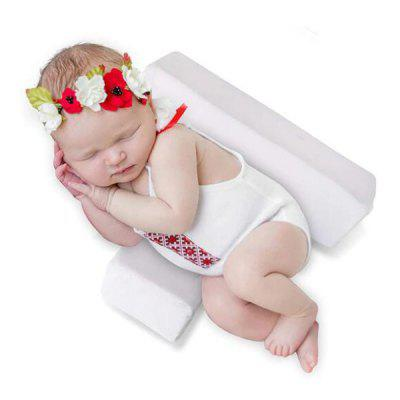 Baby Sleep Pillow Head Side Support Shaped Removable Washable Pad for Anti Spitting Milk & Prevent Flat Head