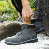 AILADUN Men's Boots Plus Velvet High-top Thick Bottom Shoes Warm Outdoor Big Yards - GRAY