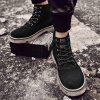 AILADUN Men's High-top Boots Vintage Thick Bottom Casual Shoes - BLACK