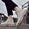 AILADUN Men's High-top Boots Vintage Thick Bottom Casual Shoes - SAND