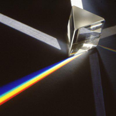 Optical Glass Mirror Colorful Triangular Prism