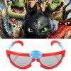 DGT-301 Cartoon Stereo Kino 3D Brille für Kinder 1Stk - ROT