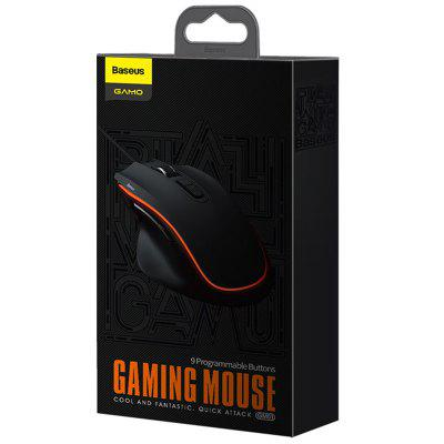 40% OFF! Baseus GAMO ( GM01 ) Gaming Mouse with 9 Programmable Buttons, Microswitch, Independent Aiming Key at Only $17.99