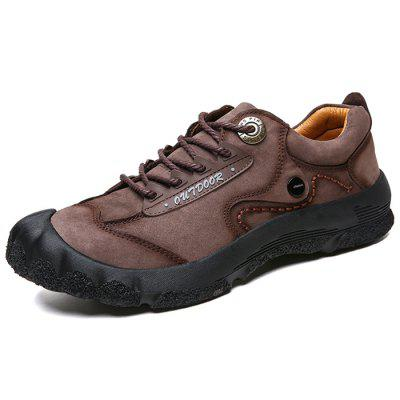 AILADUN Men's Spring Outdoor Leather Shoes Low-top Non-slip Outdoor Soft Sole Casual Footwear