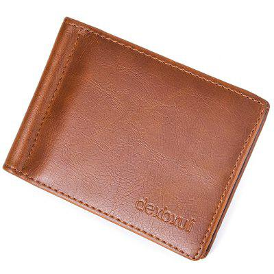 Male Fashion Multi Card Space Wallet with Cash Clip Mini Small Hand Bag