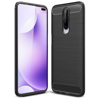 ASLING TPU Soft Shell Full Protective Back Cover Carbon Fibers Durable Phone Case for Xiaomi Redmi K30