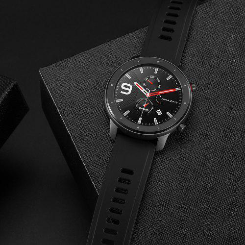 Amazfit GTR Lite 47mm Smartwatch 24 Days Battery Life 5ATM Waterproof Ceramics Bezel AMOLED Screen 8 Sports Modes International Version (Xiaomi Ecosystem Product) - BLACK