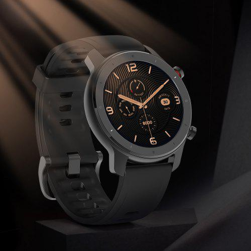 Gearbest Amazfit GTR Lite 47mm Smartwatch 24 Days Battery Life 5ATM Waterproof Ceramics Bezel AMOLED Screen 8 Sports Modes International Version (Xiaomi Ecosystem Product) - Black Ultra-long Battery Life Perfect for Daily Work, Fitness and Travel. The Best Companion for Swimming.