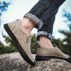 Men's Fashion Casual Pigskin leren schoenen Soft Plus Size Hand Gestikt - CHAMPAGNE