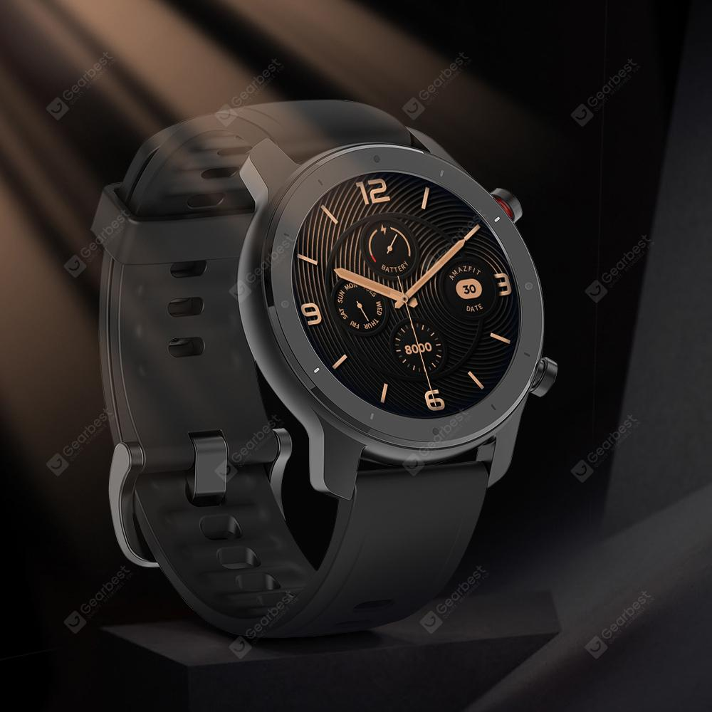 Amazfit GTR Lite 47mm Smartwatch 24 Days Battery Life 5ATM Waterproof Ceramics Bezel AMOLED Screen 8 Sports Modes International Version (Xiaomi Ecosystem Product)
