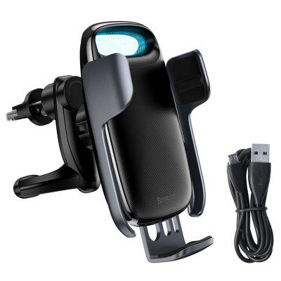 Baseus Universal Wireless Qi Fast Charging 15W QC 3.0 Car Charger Air Vent Phone Holder Gravity Linkage Mount
