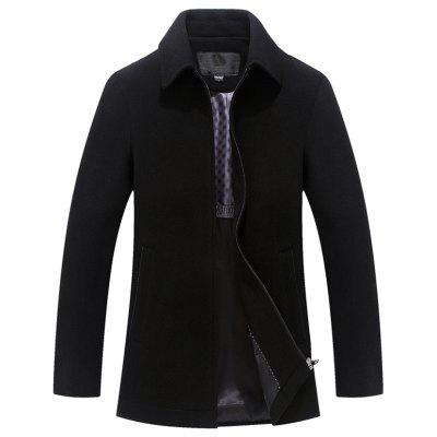 gearbest.com - Men's Business Wool Lapel Jacket Mature Zippe