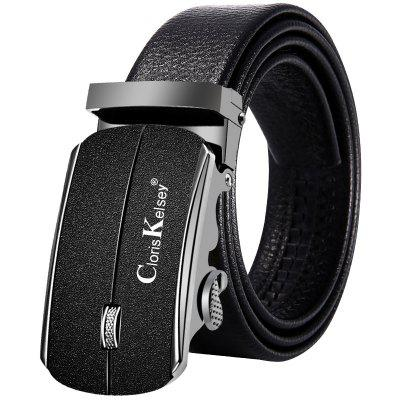 Men's Business Scrub Buckle Belt Leather Leisure Waistband