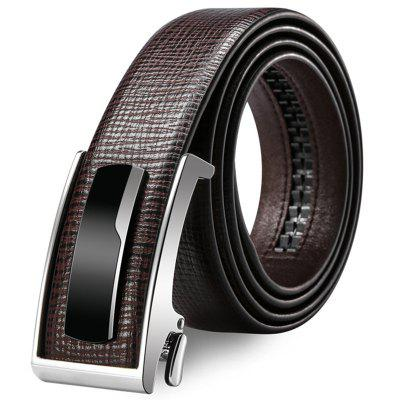 Men's Leather Belt Automatic Buckle Concise Easy-match Waistband