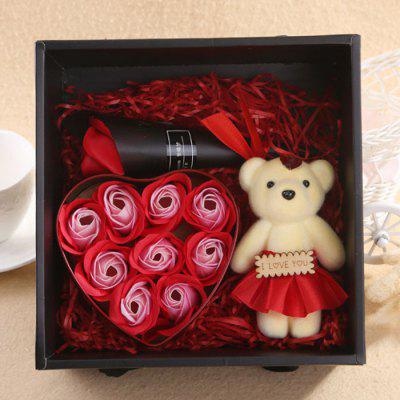 Lovely Flower Zeep Gift Box met Mini Doll voor Holiday verjaardag Valentijnsdag / Mother's Day