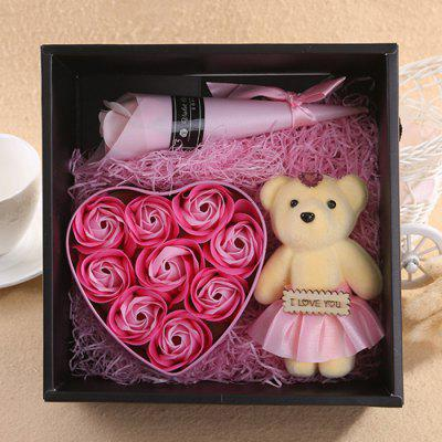 Lovely Flower Soap Gift Box with Mini Doll for Holiday Birthday Valentine's / Mother's Day