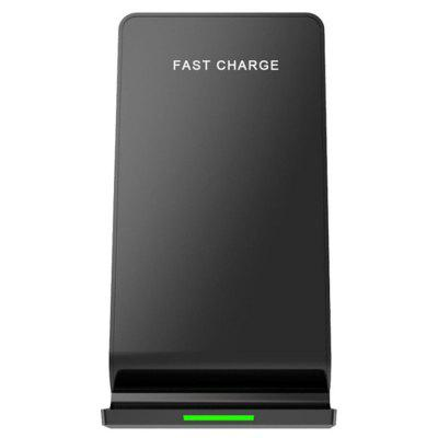 Desktop Charging Stand Wireless Charger Double Coil 10W Fast Charge Phone Holder