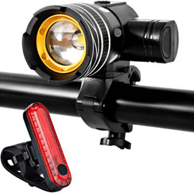 USB opladen Fietsen Mountain fiets koplamp achterlicht Lamp Anti Rainy Riding toebehoren Flashlight Kit