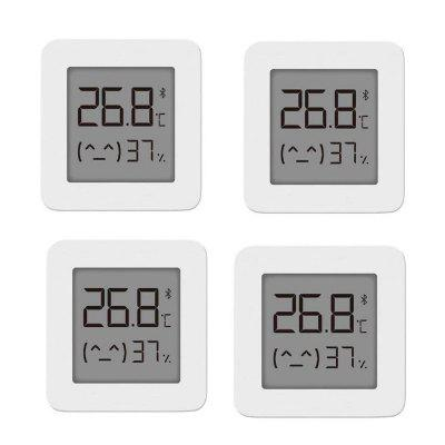 Xiaomi Mijia LYWSD03MMC Bluetooth 4.2 Household Thermometer Hygrometer Second Generation Wireless Smart Electric Digital Display Intelligent Linkage Baby Mode Work with APP