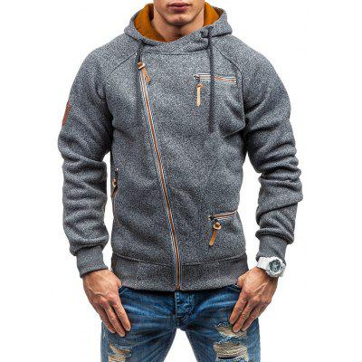 Mannen Creative Zipper Decor capuchon beknopte stijl Fashion Hooded Top