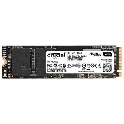 Crucial CT500P1SSD8 P1 Series 500GB M.2 Solid State Drive SSD