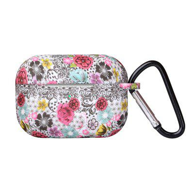 Painted Pattern Bluetooth Earphone Protective Cover Case with Buckle for AirPods Pro