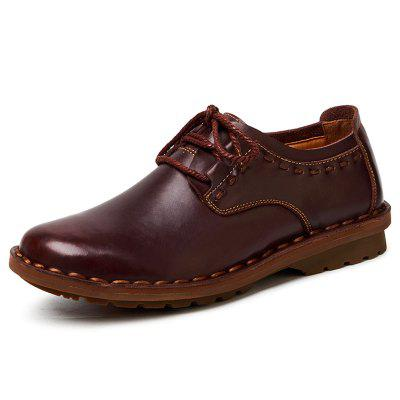 AILADUN Men's Full Grain Leather Handmade Shoes Comfort Casual Outdoors Footwear