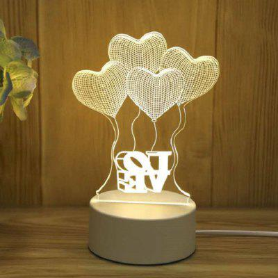 USB Colorful Night Light Creative Smart Home Bedroom Energy Saving Lamp