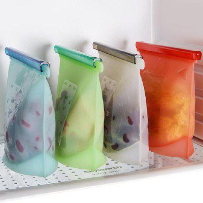 Food Grade Silicone Storage Bags Fresh-keeping Food Packaging Bag 4pcs