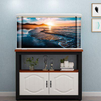 YGT012 Beach Sunset Creative Aquarium Sticker Achtergrond Aangebracht Paper 3D-effect Experience