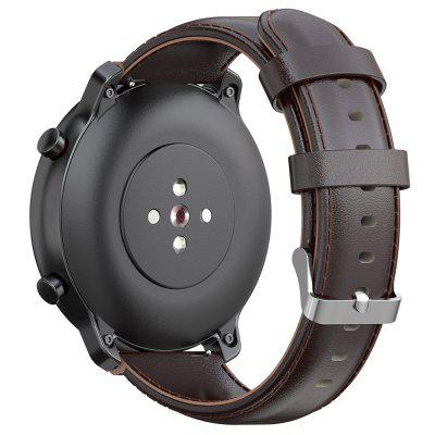 22mm Cinturino in Pelle con Fibbia di Ricambio per Amazfit GTR 47mm / Stratos / Pace Smart Watch