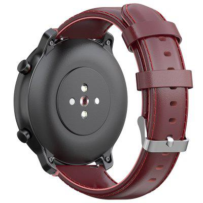 22mm Leather Strap Buckle Replacement Wristband for Amazfit GTR 47mm / Stratos / Pace Smart Watch