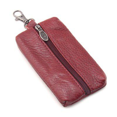 Men Soft Leather Key Bag Multifunctionele Mini Zipper Autosleutels Case