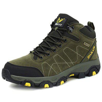 AILADUN Men's Outdoor High-top Hiking Boots Non-slip Shoes Large Size