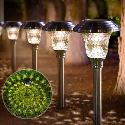 BRELONG BR-0111 Solar Lawn Light with Lattice Glass Lampshade Turns Your Garden Into a Wonderland of Magic in the Fairy Tale!