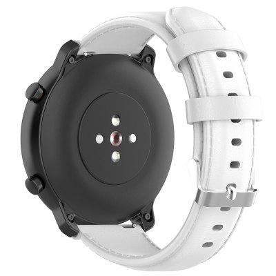20mm Leather Strap Buckle Replacement Wristband for Amazfit GTR 42mm / HUAWEI GT2 42mm Smart Watch