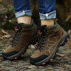 AILADUN Men's Outdoor High-top Hiking Boots Non-slip Shoes Large Size - BROWN