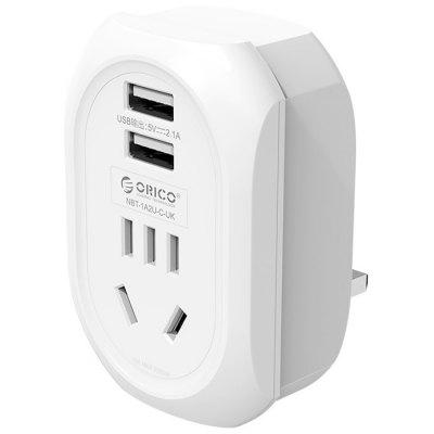 ORICO NBT-1A2U-UK-WH UK To CN + USB Plug Adapter