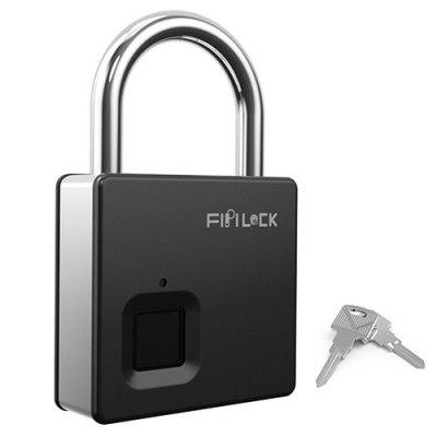FIPILOCK SL-S5 Smart Fingerprint Padlock Keyless Anti-diefstal Universal Security Lock USB oplaadbare IP65 waterdicht
